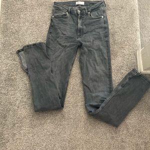 Zara TALL high waist gray jeans